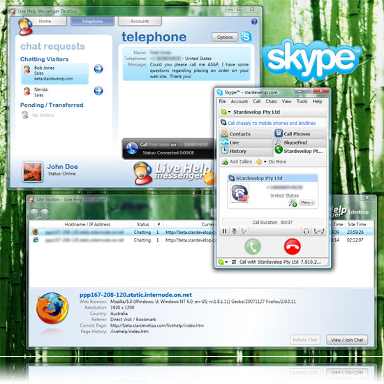 sky instant chat