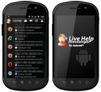 Screenshot - Live Help Messenger - Chat Window