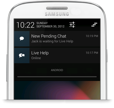 Live Help Android App - Notifcations