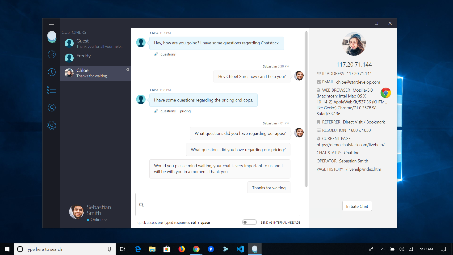 Windows 10 App - Chatstack - Live Chat Software