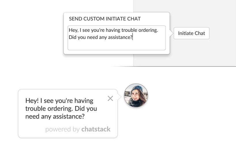 Custom Initiate Chat Messages