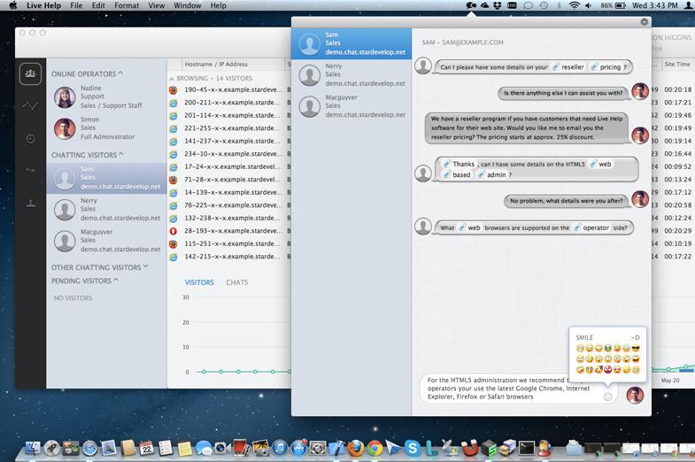Live Help Web App - Mac OS X