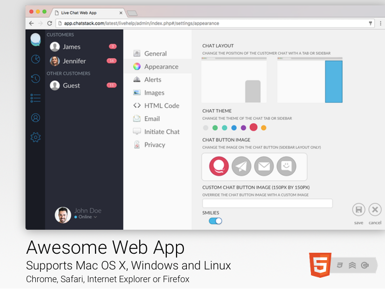 Live Help Web App - Chrome, Safari, Internet Explorer or Firefox