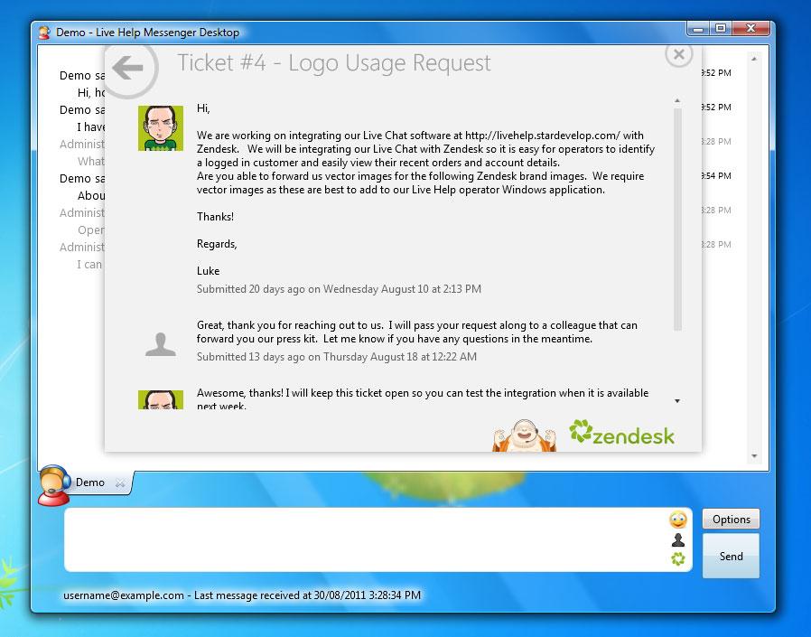Chatstack Zendesk Integration Live Support Software