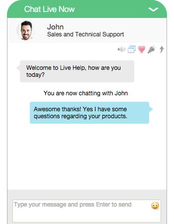 Live Help Chat Window
