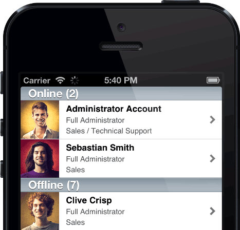 Chatstack iPhone App - Online Operators