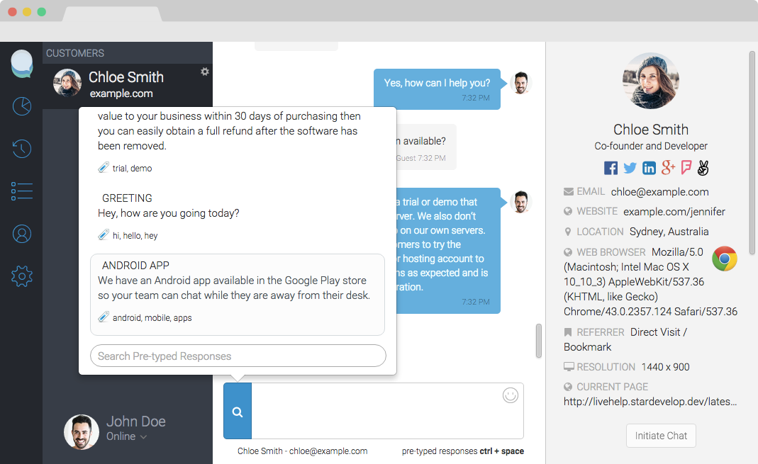 screenshots live support software live chat software  when