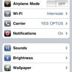 Step 1 - iPhone Wifi Settings